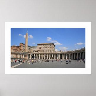 Vatican Plaza Landscape Poster