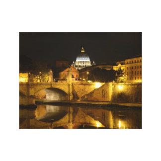 Vatican Rome at Night Canvas Print