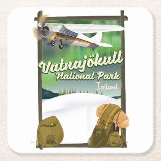 Vatnajökull National Park Iceland Square Paper Coaster
