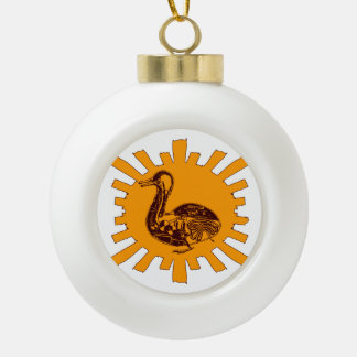 Vaucanson's Duck Ceramic Ball Christmas Ornament