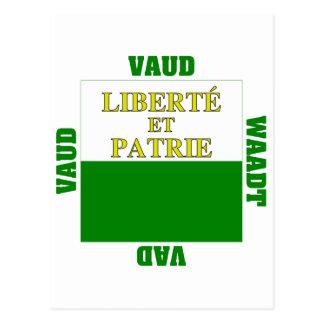 Vaud Switzerland Canton Flag Post Cards