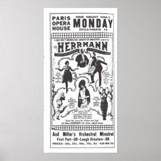Vaudeville 1919 vintage newspaper ad poster