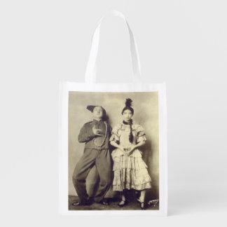 Vaudeville Performers Reusable Grocery Bag