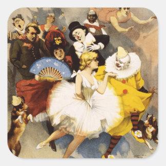 Vaudeville - The Sandow, Trocadero Vaudevilles Square Sticker