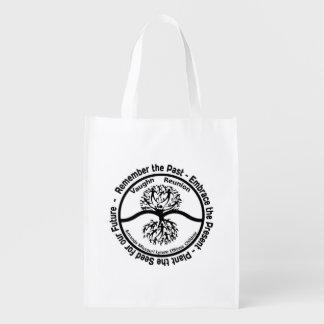 Vaughn Family Reunion- Reusable bag B&W Logo Market Tote