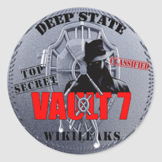 Vault 7 classic round sticker