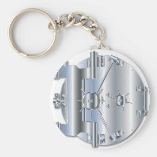 Vault Door Basic Round Button Keychain