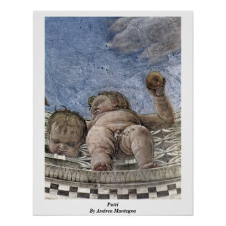 Vault Fresco Detail: Putti By Andrea Mantegna Poster