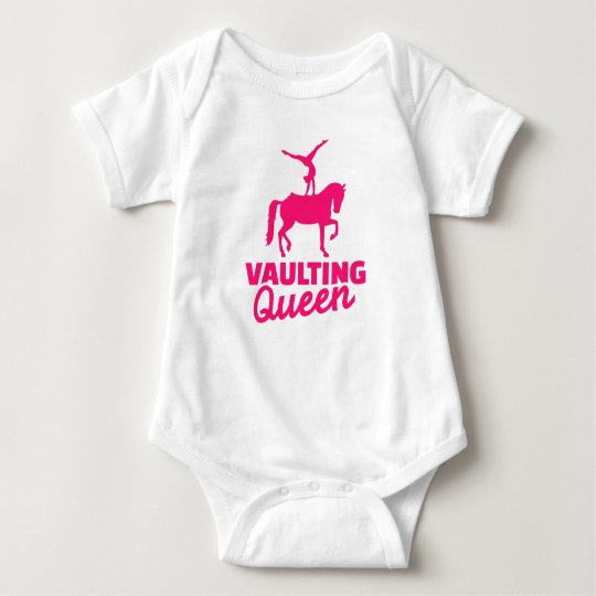Vaulting queen baby bodysuit