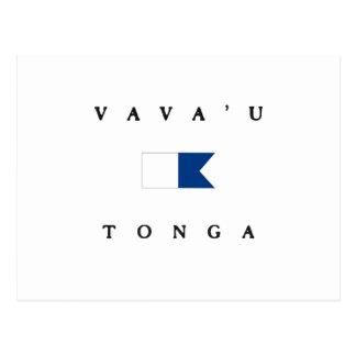 Vava'u Tonga Alpha Dive Flag Postcard