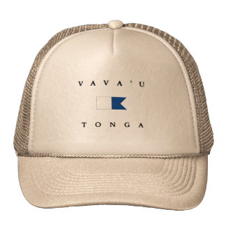 Vava'u Tonga Alpha Dive Flag Trucker Hat