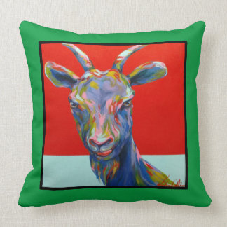 VCollierArt Original Naughty Goat Throw Pillow