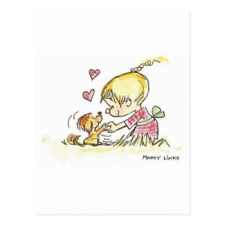 VDA-006 Doggy Devotion Postcard