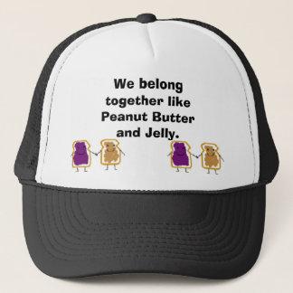 vdfav, vdfav, We belong together like Peanut Bu... Trucker Hat