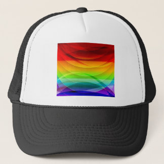 Vector-Abstract-Colorful-Background-Graphic RAINBO Trucker Hat
