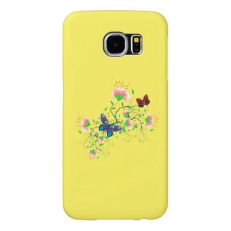 Vector Abstract  Colorful Flowers Butterfly Samsung Galaxy S6 Cases