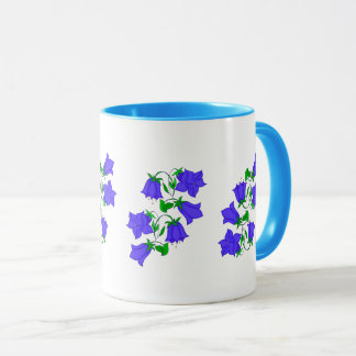 Vector Abstract colourful Bluebell flower Mug