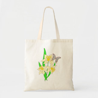 Vector  abstract Flowers Budget Tote Bag