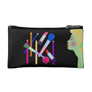 Vector abstract lady makeup bags