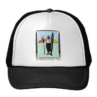 vector amish surffboard trucker hat