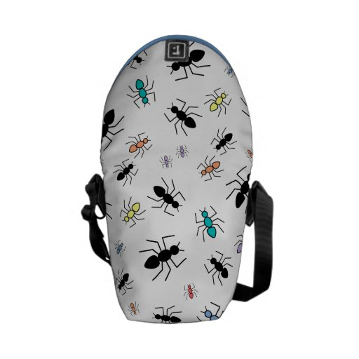 Vector Ant Collage Messenger Bags