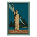 Vector Art Deco New York Wonder City of the World Poster