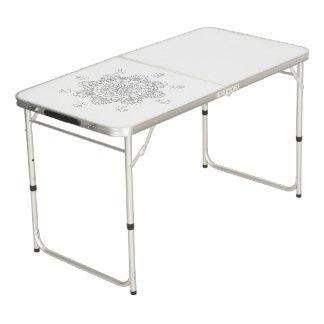 Vector Beautiful Mandala, Patterned Design Element Beer Pong Table