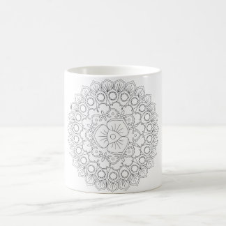 Vector Beautiful Mandala, Patterned Design Element Coffee Mug