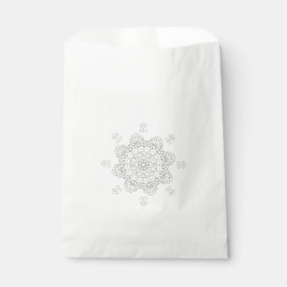 Vector Beautiful Mandala, Patterned Design Element Favour Bag