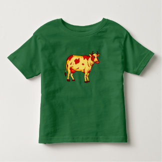 Vector Brown cow Toddler T-shirt