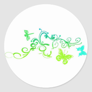 Vector Butterfly Design Classic Round Sticker