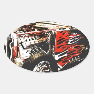 vector car 3 jpg oval sticker