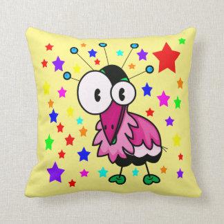 Vector  Cartoon  Bird Throw Pillow