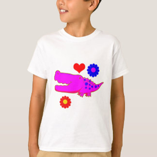 Vector  Cartoon crocodile. T-Shirt