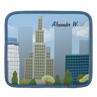 Vector City Scene Personalized iPad or Tablet Case