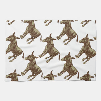 Vector Donkey Kitchen Towel
