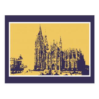 Vector drawing Cologne Cathedral (Kölner Dom) Postcard
