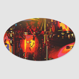 vector drums.jpg oval sticker