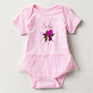 Vector Flower Personalized Baby Bodysuit