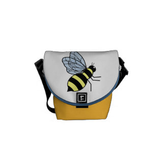 Vector Flying Bee Courier Bags