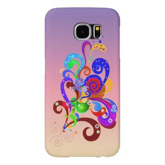 Vector  Funky Retro Pattern Samsung Galaxy S6 Cases