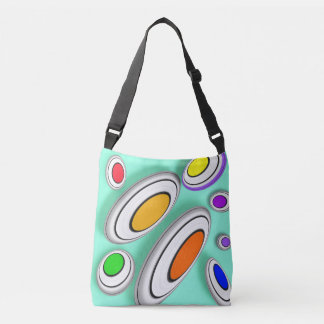 Vector geometrical pattern crossbody bag
