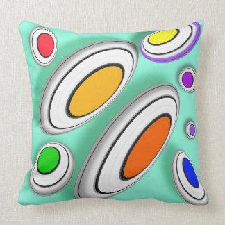 Vector geometrical pattern throw pillow