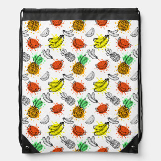 Vector Graphic Seamless Pattern Drawstring Bag