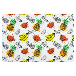 Vector Graphic Seamless Pattern Floor Mat