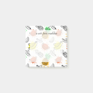 Vector Graphic Seamless Pattern Post-it Notes