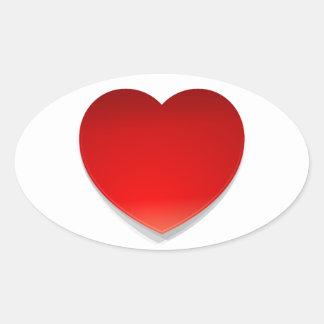 Vector Heart Symbol Oval Sticker