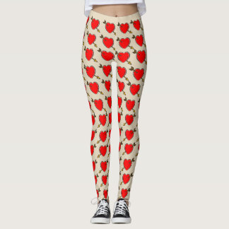 Vector Heart with Arrow. Leggings