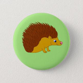 Vector illustration Hedgehog 2 Inch Round Button