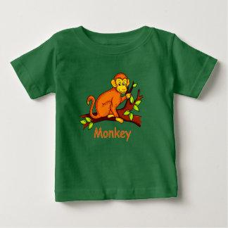 Vector illustration Monkey Baby T-Shirt